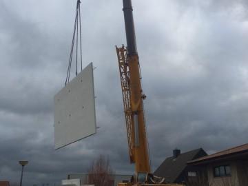 Uitbouw in prefabbeton elementen Oostduinkerke